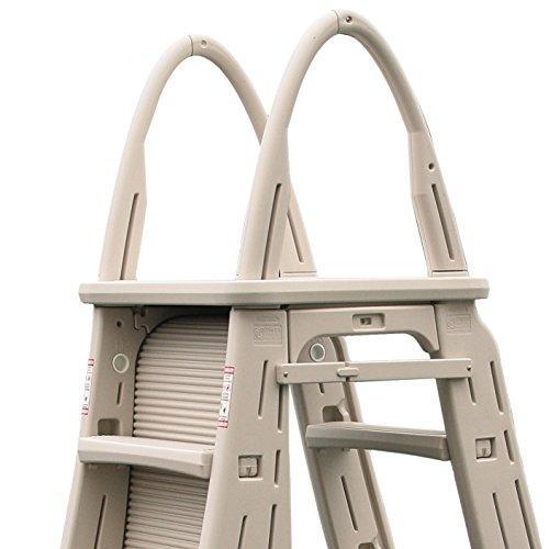 Confer Plastics A-Frame 7200 Above Ground Adjustable Pool Roll-Guard Safety Ladder