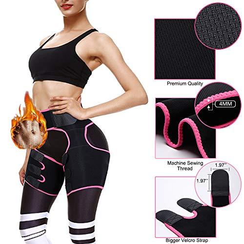 Newtion Waist Trainer Trimmer for Women Weight Loss Thigh Waist Butt Lifter Shapewear Belt-Workout Body Sweat Band